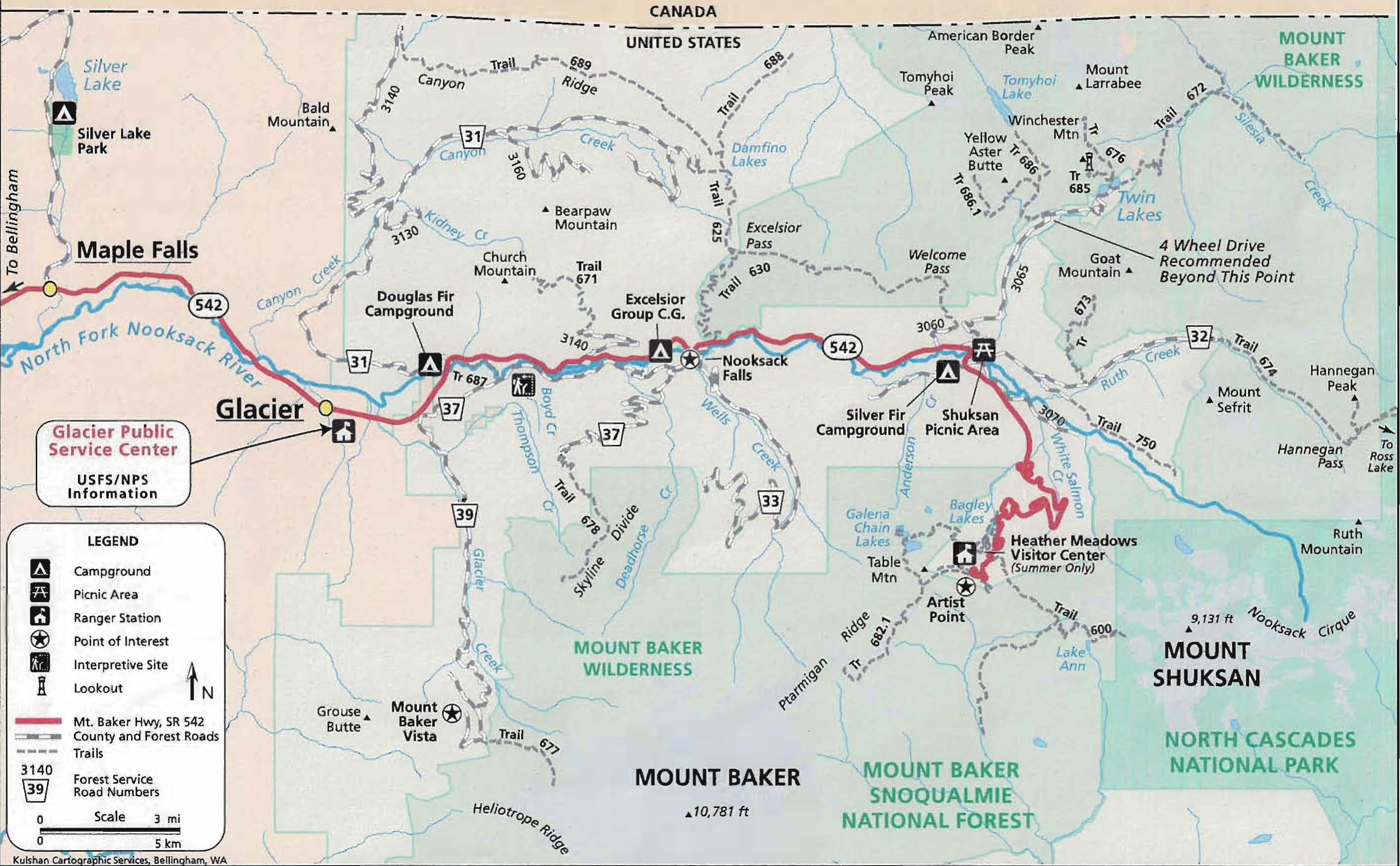 Mt Baker Highway, Trails, Campgrounds