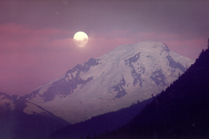 Mt Baker Moonrise